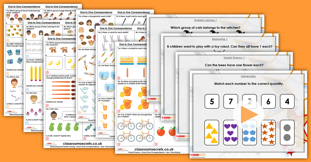 One to One Correspondence Year 1 Resources