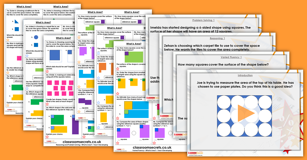 What is Area? Year 4 Resources