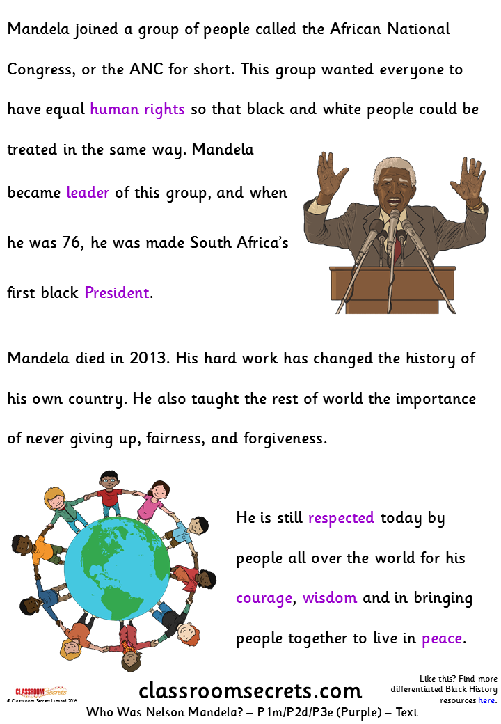 Who was Nelson Mandela? (Y1m/Y2d/Y3e) Guided Reading Pack