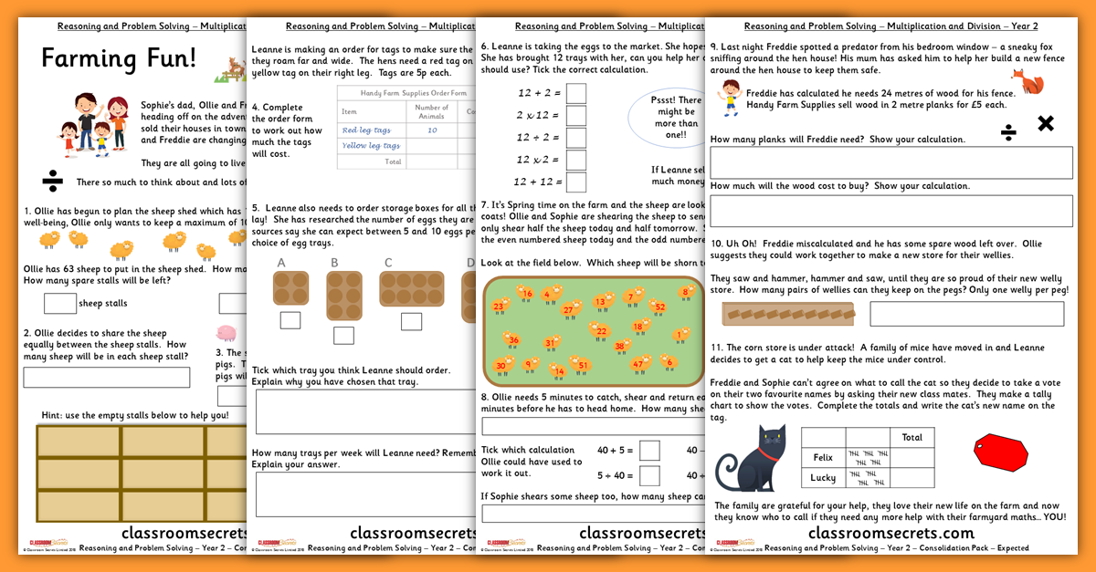 Multiplication and Division Consolidation Year 2 Resources