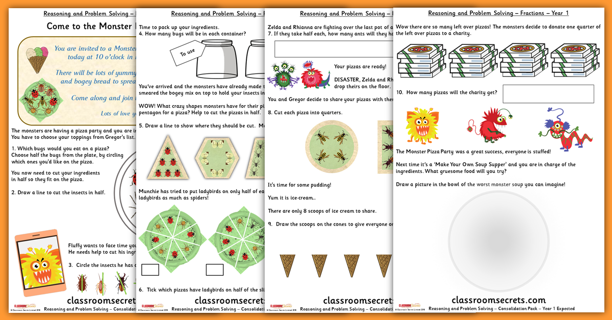 Fractions Consolidation Year 1 Resources