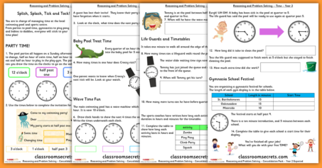 Time Consolidation Year 2 Summer Block 3 Reasoning and Problem Solving