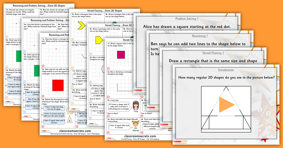Mixed Age Year 1 and 2 Properties of Shape Step 4 Resources