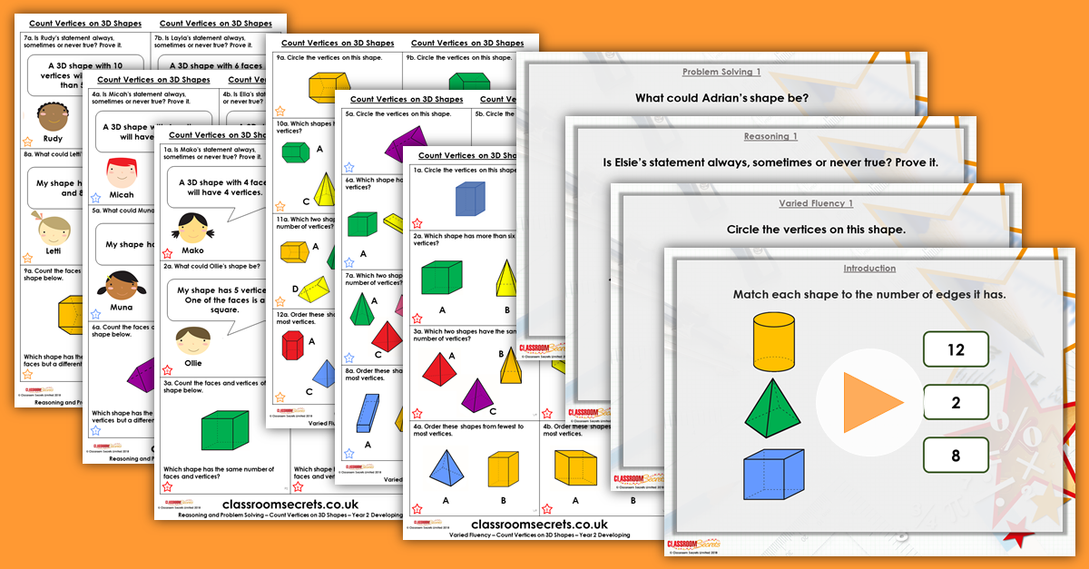 Mixed Age Year 1 and 2 Properties of Shape Step 8 Resources