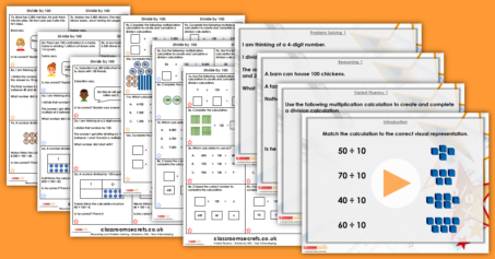 Mixed Age Year 3 and 4 Multiplication and Division Step 4 Resource Pack