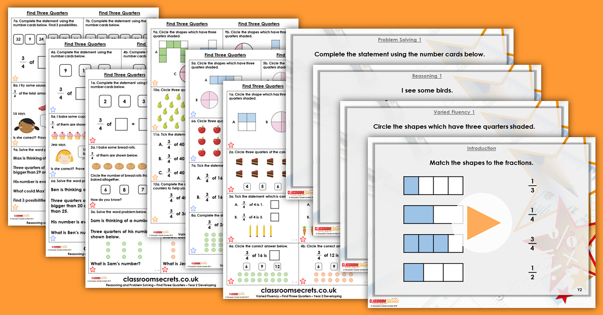 Mixed Age Year 1 and 2 Fractions Step 11 Resources
