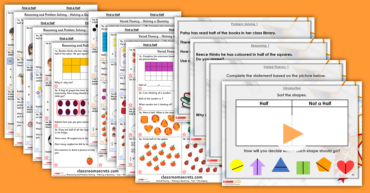 Year 1 and 2 Mixed Age Fractions Step 3 Resources