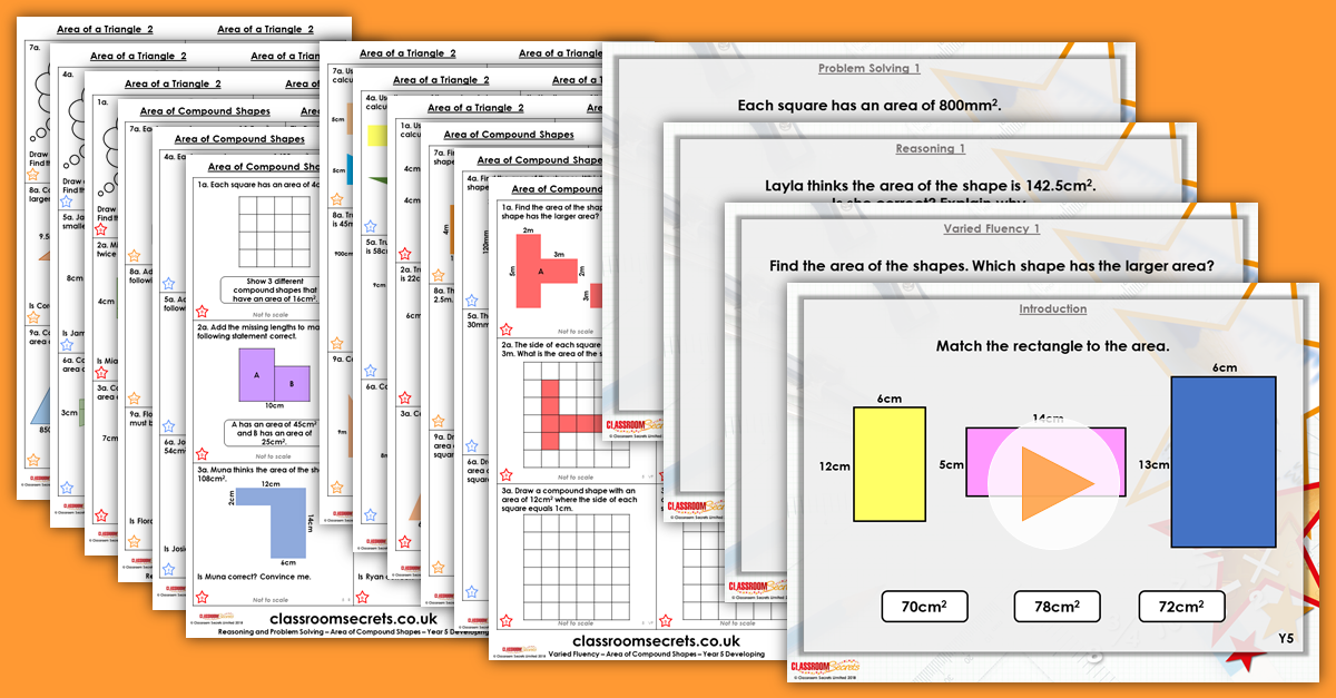 Mixed Age Year 5 and 6 Perimeter and Area Step 6 Resources