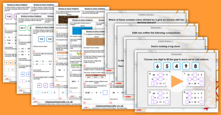 Mixed Age Year 5 and 6 Decimals and Percentages Step 12 Resource Pack