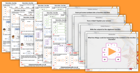 Mixed Age Year 5 and 6 Algebra Step 5 Resource Pack