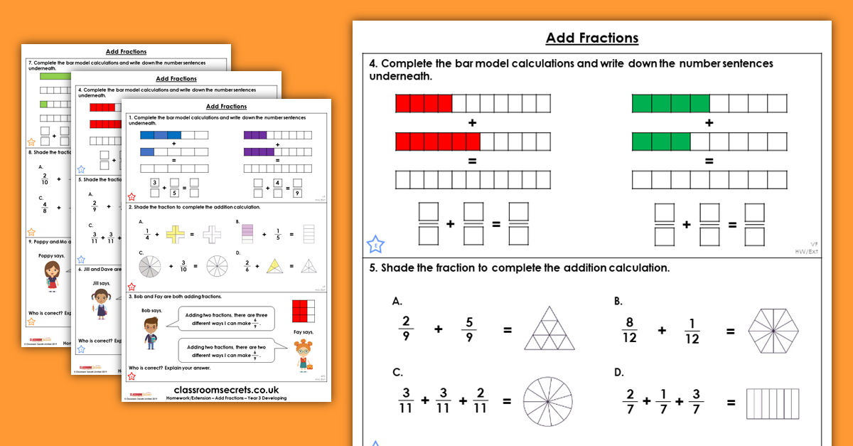 Add Fractions Homework