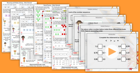 Mixed Age Year 4 and 5 Decimals Step 15 Resource Pack