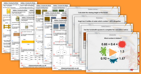Adding Decimals – Crossing the Whole Year 5 Decimals Resource Pack