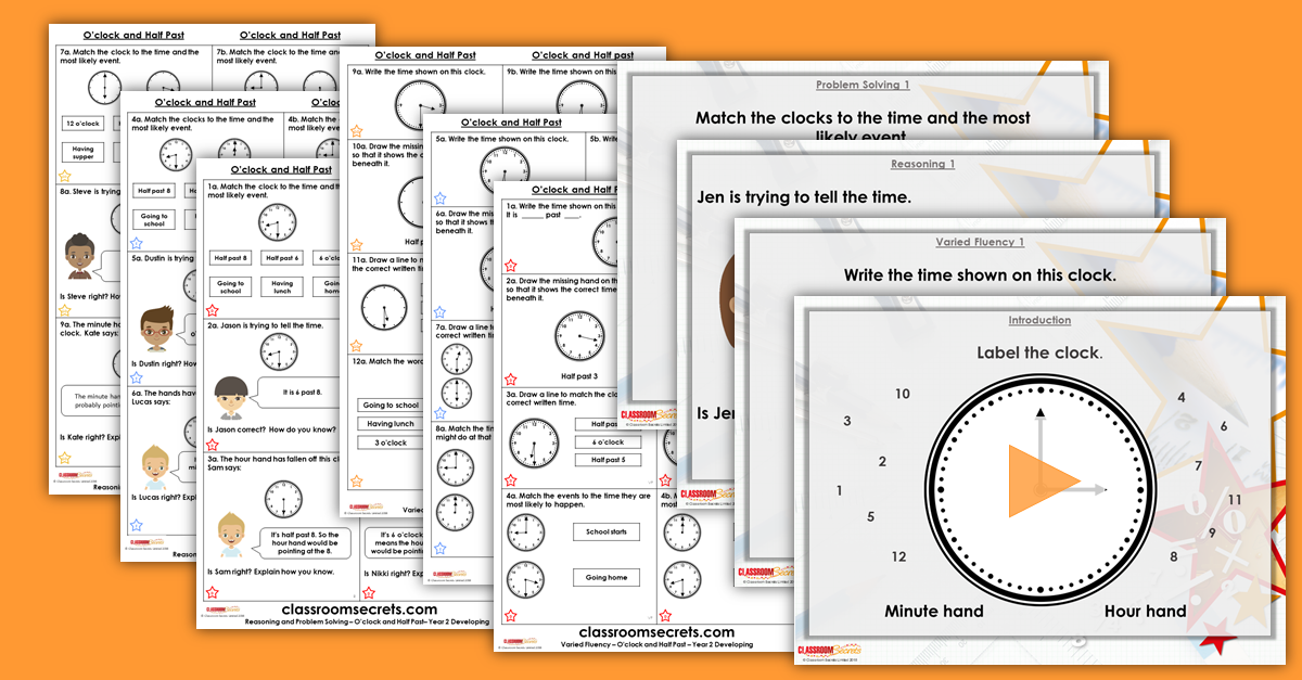 O'clock and Half Past Year 2 Resources