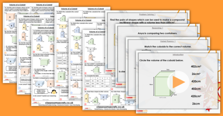 Volume of a Cuboid Year 6 Perimeter Area and Volume Resource Pack
