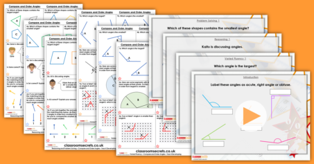 Compare and Order Angles Year 4 Properties of Shape Resource Pack