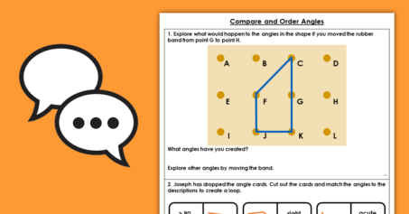 Properties of Shape Year 4 Compare and Order Angles Discussion Problems