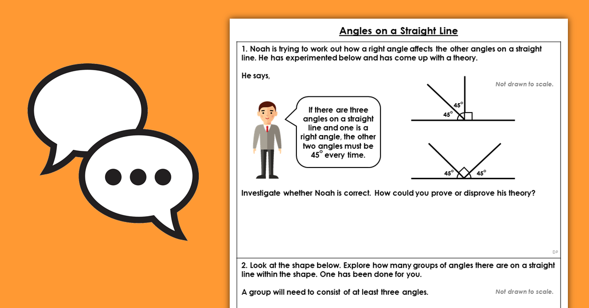 Year 5 Angles on a Straight Line Resources
