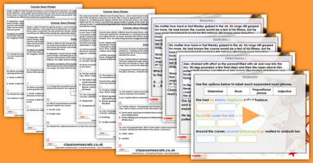 Concise Noun Phrases Year 5 Cohesion Resource Pack