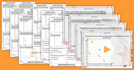 Mixed Age Year 3 and 4 Mass, Capacity and Coordinates Step 12 Resource Pack