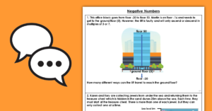 Year 5 Negative Numbers