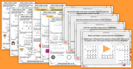 Multiply 4-Digits by 2-Digits Year 6 Four Operations Resource Pack