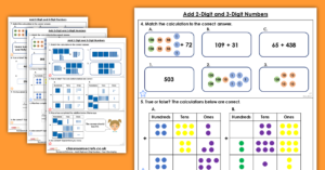 Add 2-digit and 3-digit Numbers Homework