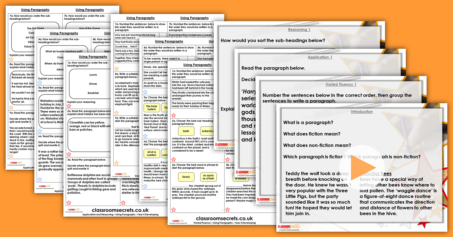 Using Paragraphs Year 4 Ready to Write Resource Pack