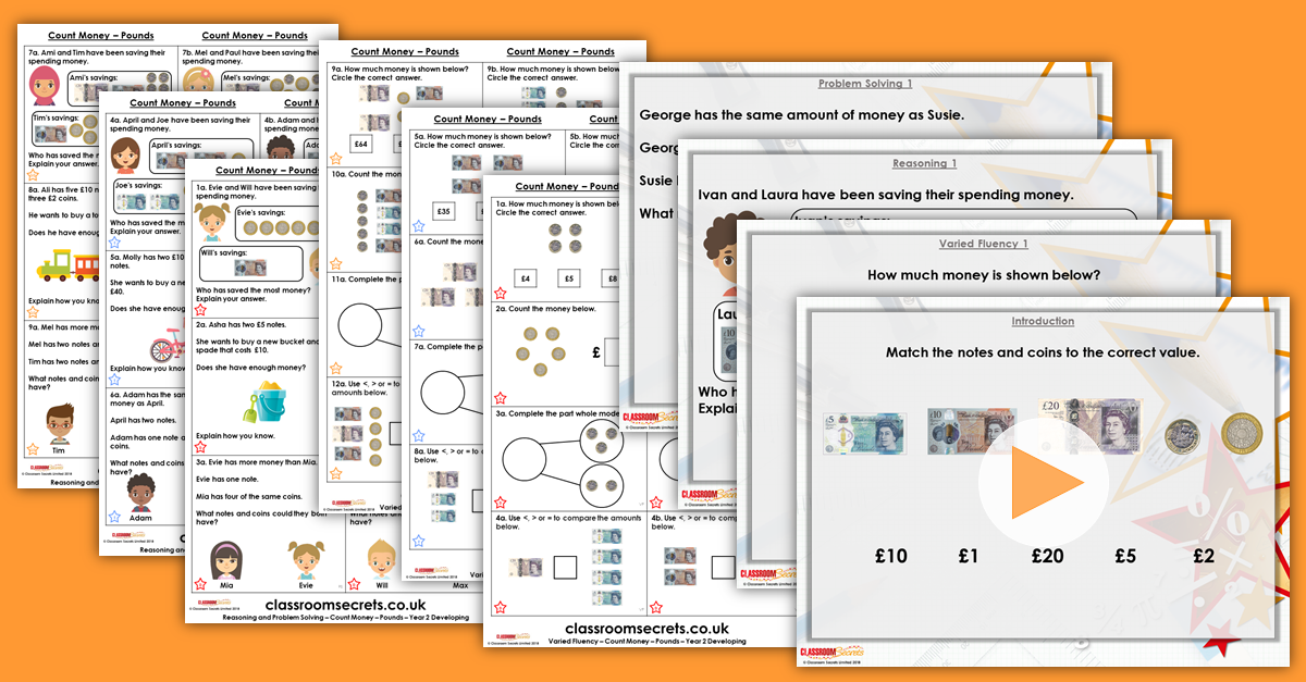 Count Money - Pounds Year 2 Resources