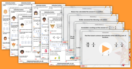 Subtracting Fractions Year 6 Fractions Resource Pack
