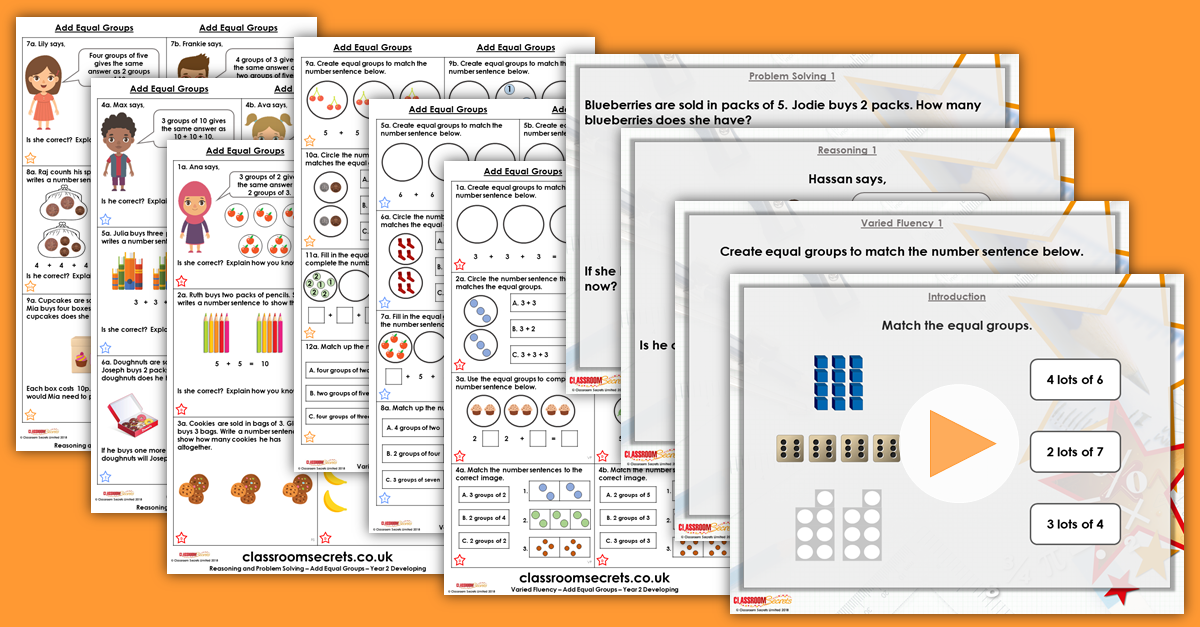 Add Equal Groups Year 2 Multiplication and Division Resource Pack