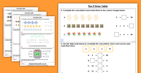 The 5 Times Table Homework Extension Year 2 Multiplication and Division