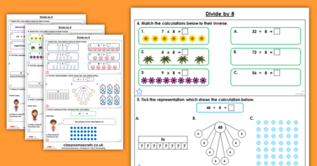 Divide by 8 Homework Extension Year 3 Multiplication and Division