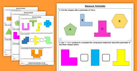 Free Measure Perimeter Homework Extension Year 5 Perimeter and Area