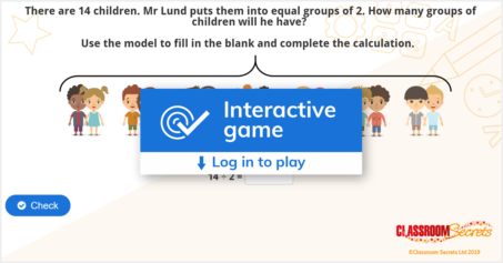 Year 2 Make Equal Groups Grouping IWB Multiplication and Division Activity