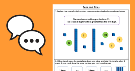Year 1 Tens and Ones Place Value Discussion Problems