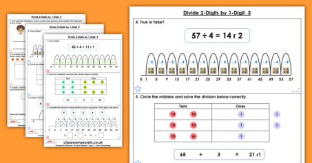 Divide 2-Digits by 1-Digit 3 Homework Extension Year 3 Multiplication and Division