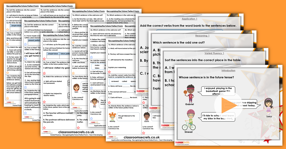 Recognising the Future Perfect Form Year 5 Resources