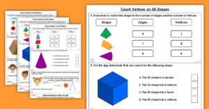 Year 2 Count Vertices on 3D Shapes Homework