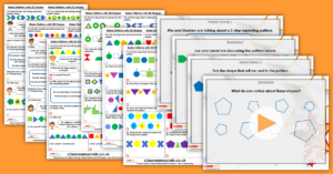 Make Patterns with 2D Shapes Year 2