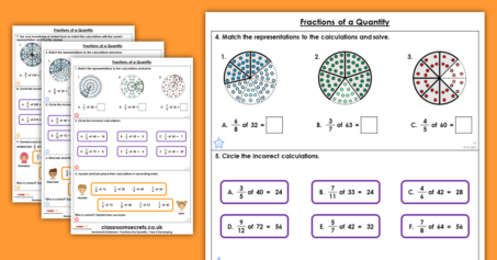 Fractions of a Quantity Homework Extension Year 4 Fractions