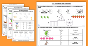 Year 3 Unit and Non-Unit Fractions