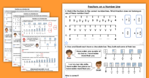 Fractions on a Number line Homework Extension Year 3 Fractions