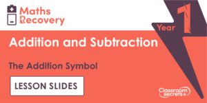 The Addition Symbol Maths Recovery