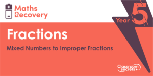 Year 5 Mixed Numbers to Improper Fractions