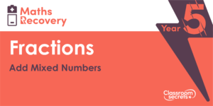 Add Mixed Numbers Maths Recovery