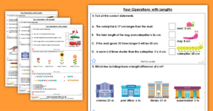 Four Operations with Lengths Homework Extension