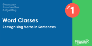 Year 1 Recognising Verbs in Sentences Lesson